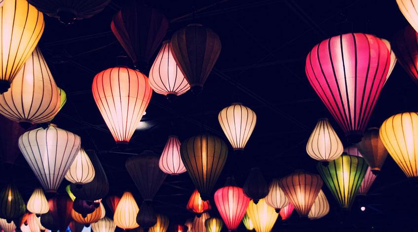 Iluminación para fiestas de cumpleaños