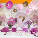 El florido y primaveral baby shower de Elena