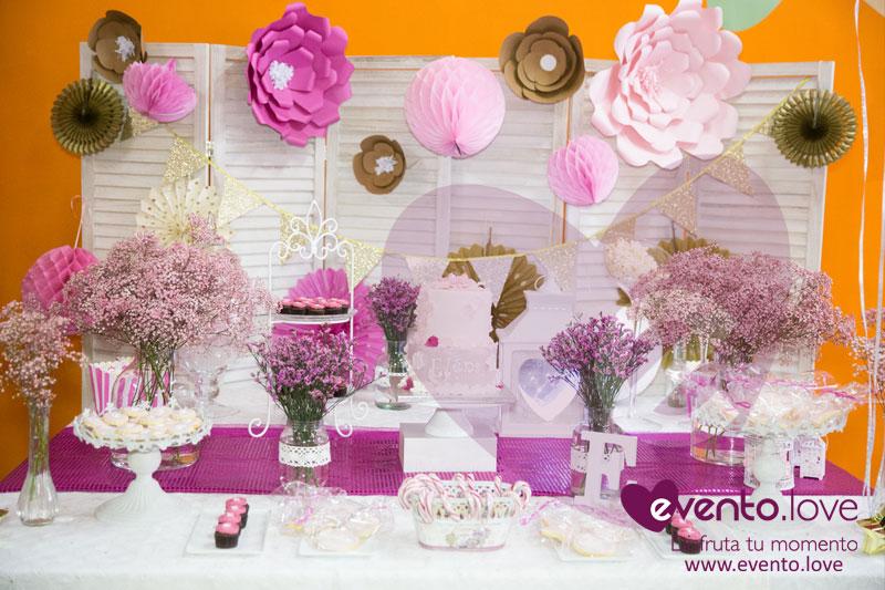 El florido y primaveral baby shower de Elena madrid