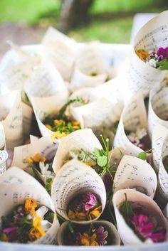 boho chic flores cucurucho boda