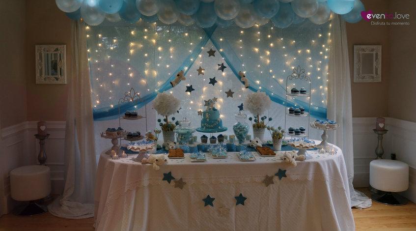 babyshower ositos globos estrellas azul