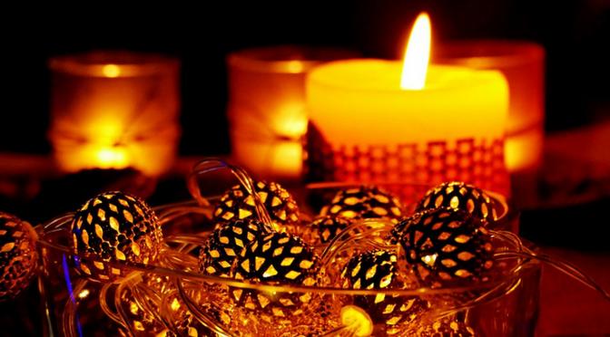 Decoración con luces evento fiesta velas farolillos iluminar iluminación