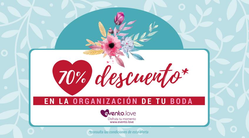 descuento del 70% en la organización de tu boda en Madrid