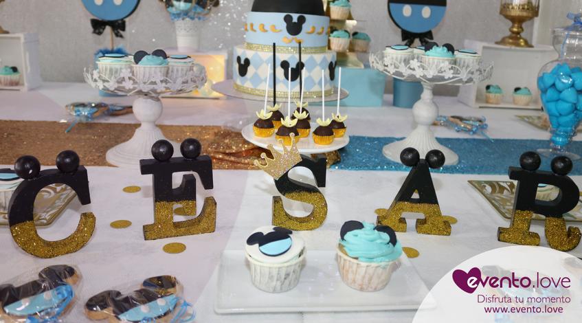 Bautizo Con Mickey Mouse Una Preciosa Celebración Para César