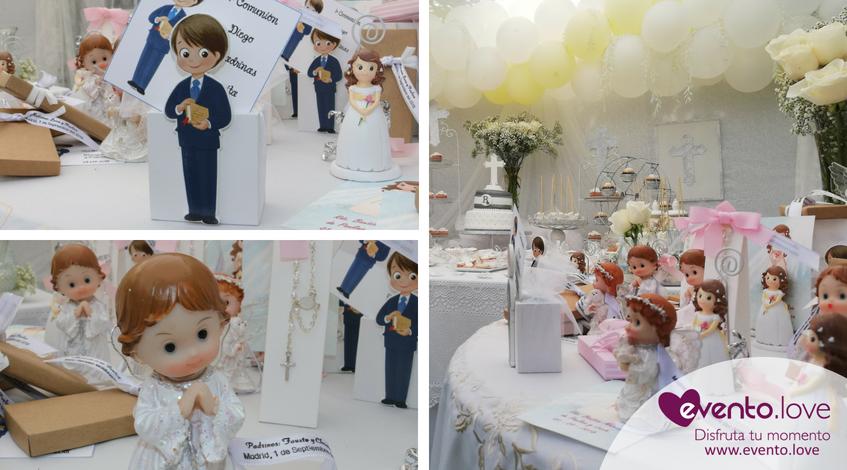 triple celebración en el jardín regalos detalles personalizadas temáticas bautizo comunión blanco