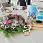 Una boda con temática de viajes