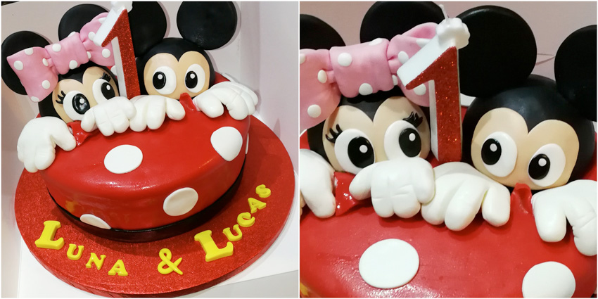 Tarta de Mickey y Minnie
