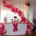 baby shower en rosa y blanco