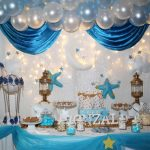 baby shower azul y blanco