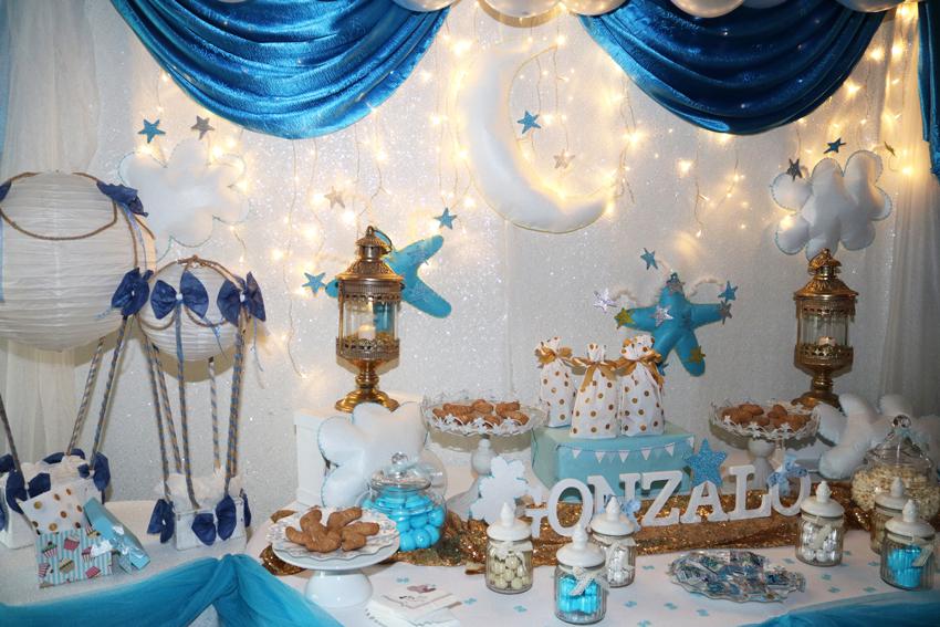 baby shower azul y blanco