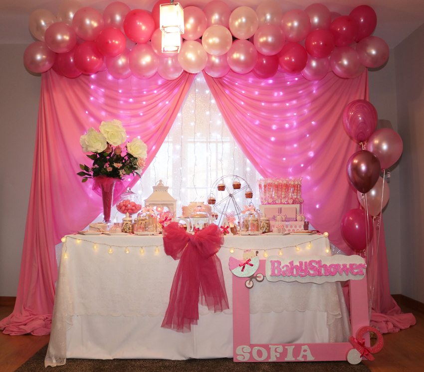 Decoracion Para Fiesta De Baby Shower.El Baby Shower Rosa De Sofia Blog De Evento Love