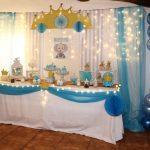 Un baby shower celeste para Lucas
