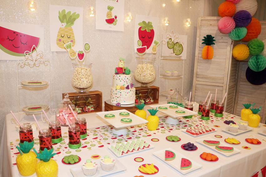 cumpleaños de frutas