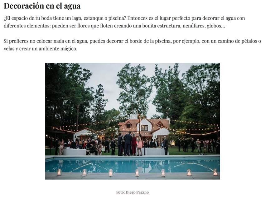 Tendencias en decoración de boda