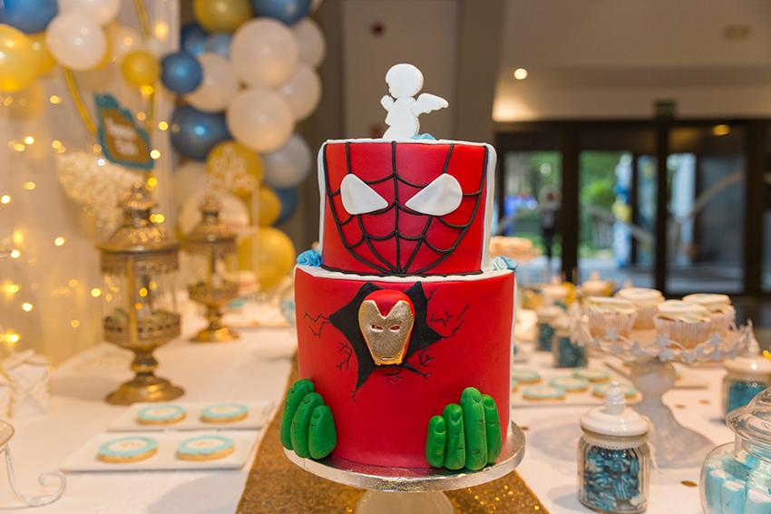 tarta de super héroes