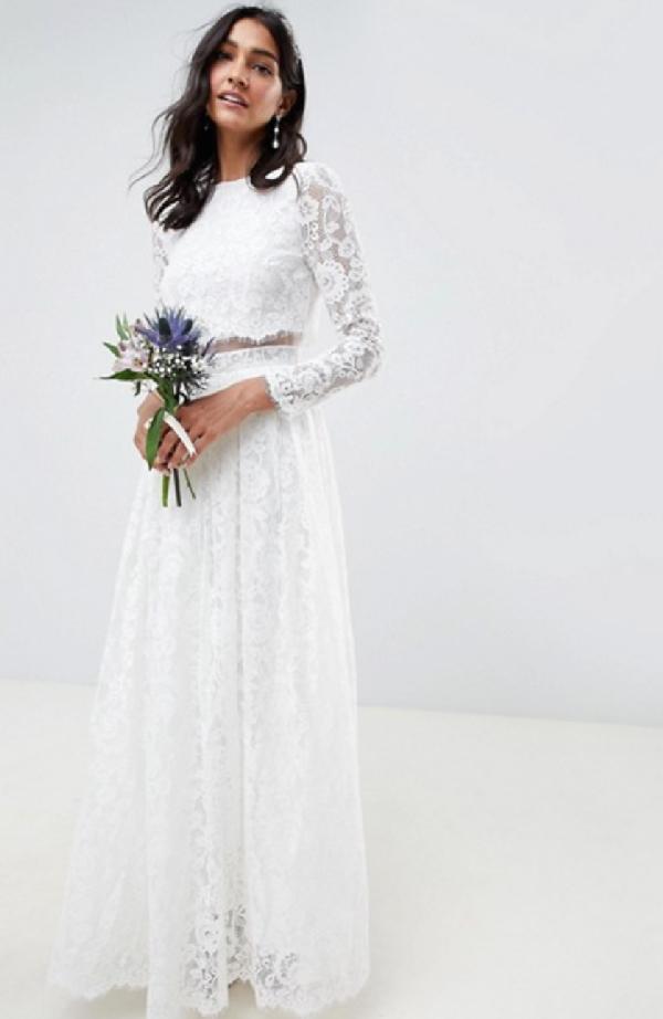 Vestido de novia boho chic
