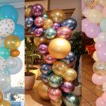 5 decoraciones con globos de colores para tu fiesta