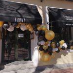 Una espectacular decoración con globos para la inauguración de Flavia Chamberí
