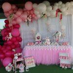 La decoración con globos, todo un éxito en la comunión de Daniela