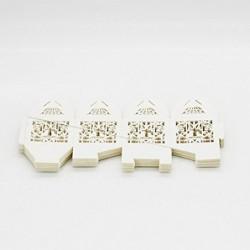 ROSENICE 50 Piezas Caja para Bombones Caramelos Dulces Caja para Regalo Recuerdos de Bautizos Bodas Fiesta Cumpleaños con Cin
