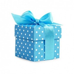10pequeñas cajas de regalo, color azul