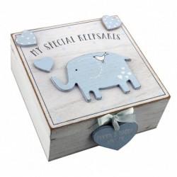 Baby Boy caja de recuerdo de recuerdos de madera estilo vintage