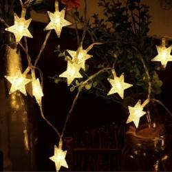 Aookey Luces LED Diseño de Estrellas, 40 Estrellas 5M Baterías Powered Decorativo Blancas de Luz Cálida Luces, para la Navida