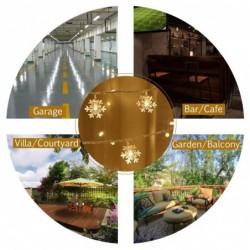 Cortina de Luces, Cadena de Luces, Luz Cadena, LED Guirnaldas luminosas, Resistente al Agua, Decoración de Navidad, Fiestas,