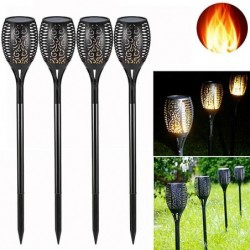Solar Flame Lights Garden Lights Solar Powered - 96 LED Flickering Flame Solar Torch Light Dusk To Dawn On/Off - IP65 Waterpr