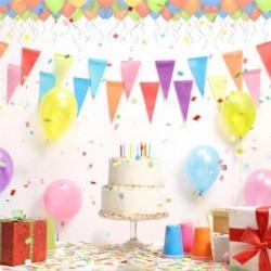 100 Globos de Fiesta de Diversos Colores, KimKo Globos de Látex con Bomba y Cintas, Globos y Decoraciones para Cumpleaños, Fi