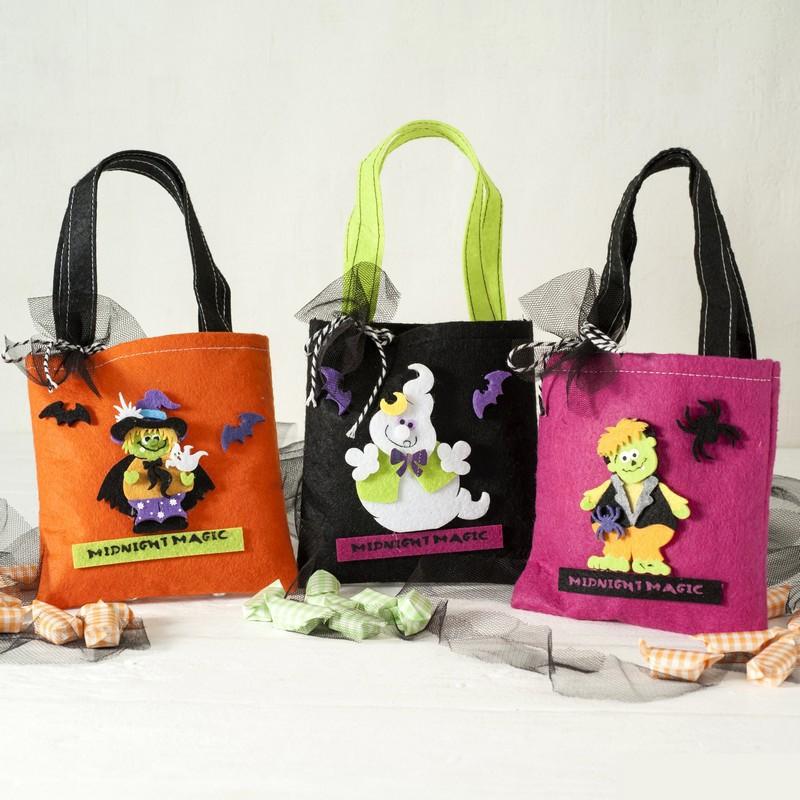 amplia gama comprar online paquete elegante y resistente 3 x bolsa de fieltro 14 cm con caramelos