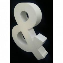 Oedim Iniciales de Boda en Corcho | 120 cm de altura x 10 cm de grosor | Letras Fabricadas en Corcho Color Blanco | Letras de