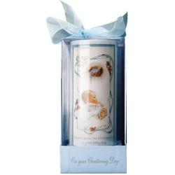 Bautizo de vela - bautizo vela para un niño en caja con cinta